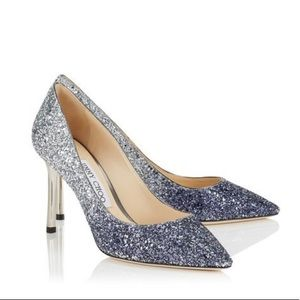 Jimmy Choo Romy Glitter Dégradé Pointy Toe Pumps